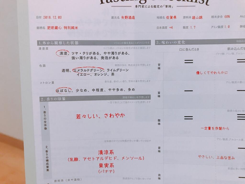 日本酒鑑定書